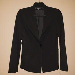 Amanda & Chelsea Inverted Collar Black Blazer